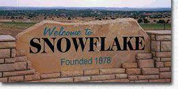 Snowflake, AZ sign