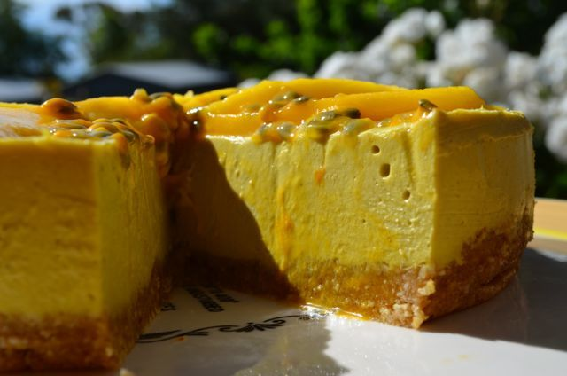 Raw Vegan Mango Magic Cheesecake