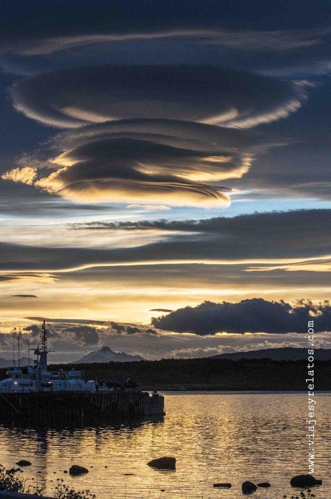 Un atardecer en Puerto Natales