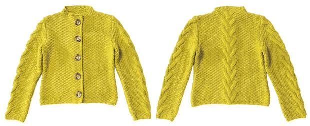 Вязание шаблон: куртка с кабелями: Как Nachstricken | BRIGITTE.de