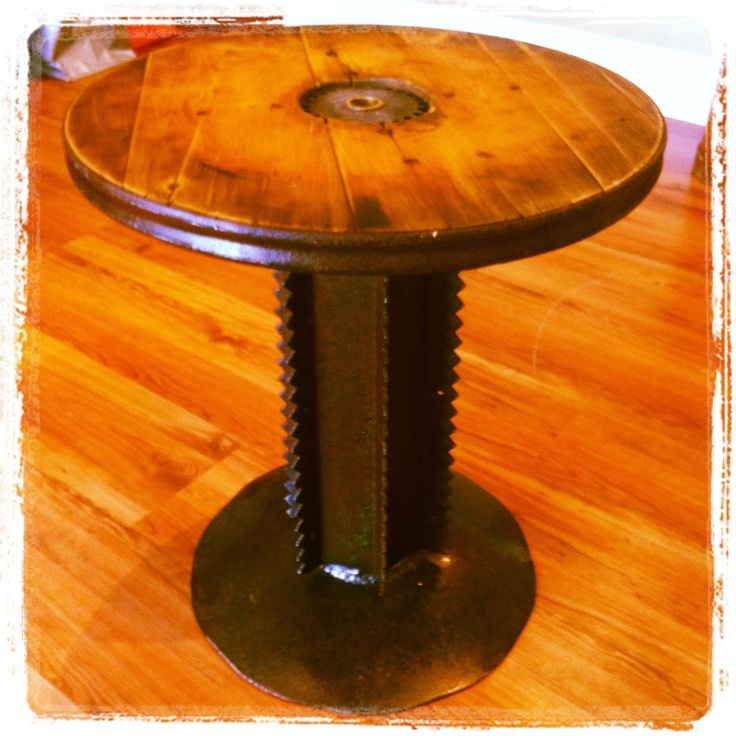 1000 images about large wooden spools on pinterest for Wooden reel furniture