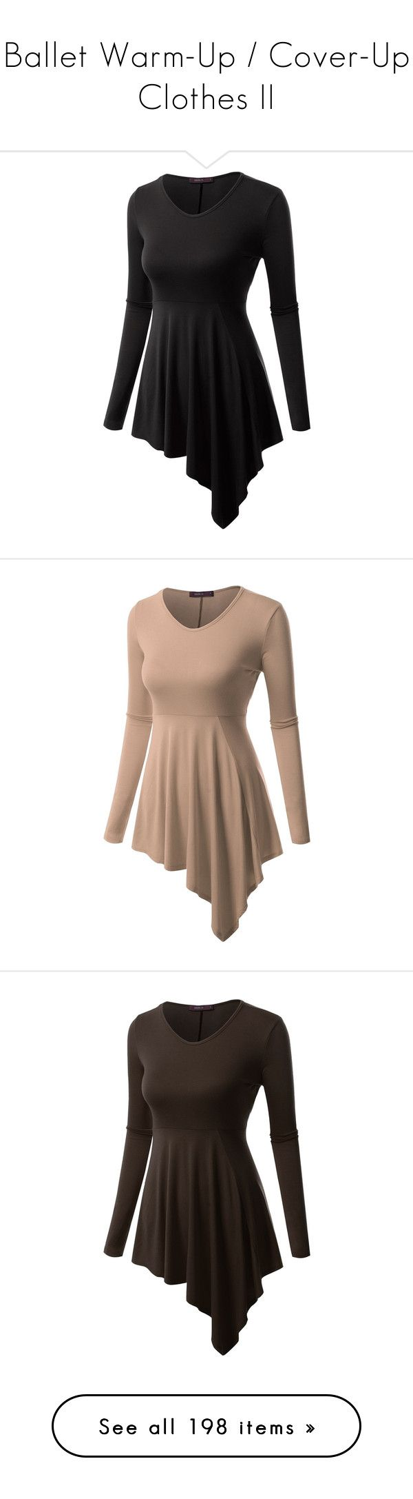 """""""Ballet Warm-Up / Cover-Up Clothes II"""" by gymholic ❤ liked on Polyvore featuring dresses, longsleeve dress, round neck dress, draped dress, long sleeve drape dress, round neckline dress, round neck long sleeve dress, brown dress, long sleeve dress and green long sleeve dress"""