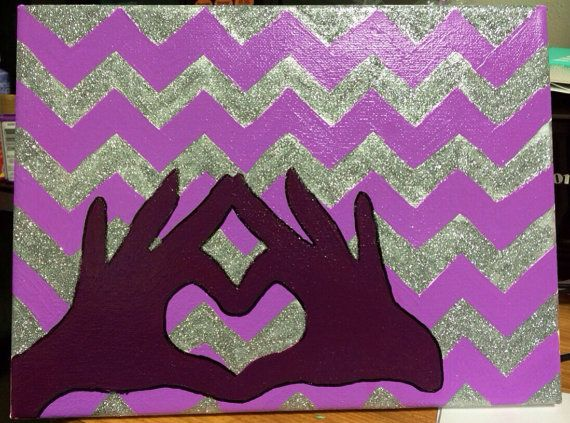Sigma Kappa throw what you know canvas by sororitycanvases on Etsy, $25.00