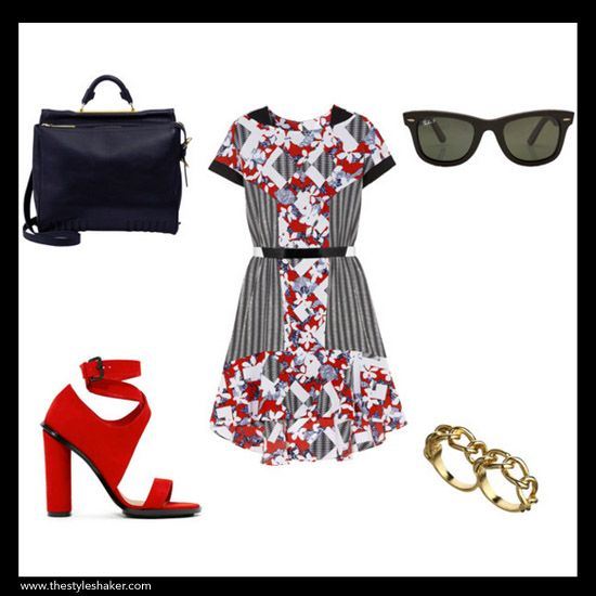 Styling Tutorial #7: 1 Peter Pilotto for Target Dress ($45), 6 Ways to Wear It. Shop & Shaker. Look #1