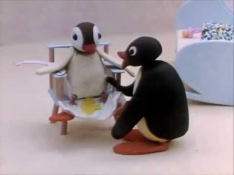 Pingu The Babysitter - voorbeeld van fantasietaal/jabbertalk