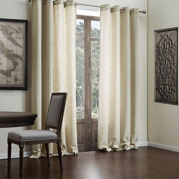 Faux Solid Linen Classic Eco-friendly Curtain   #curtains #decor #homedecor #homeinterior #beige
