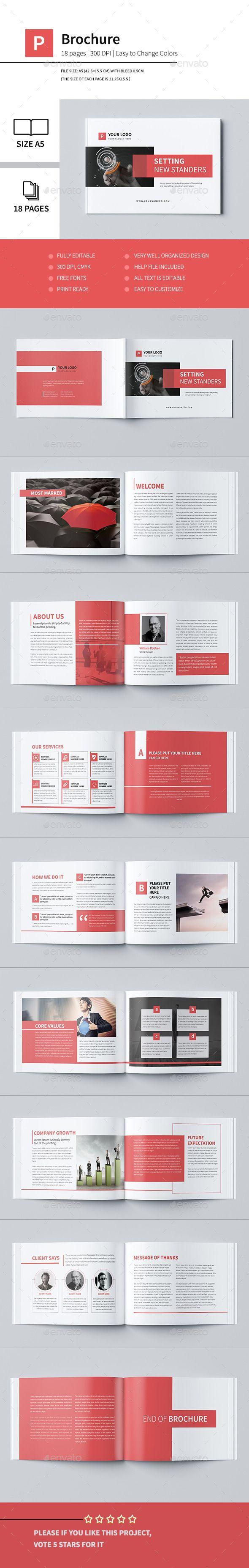 Minimal Business Brochure Template #brochure #design Download: graphicriver.net/...