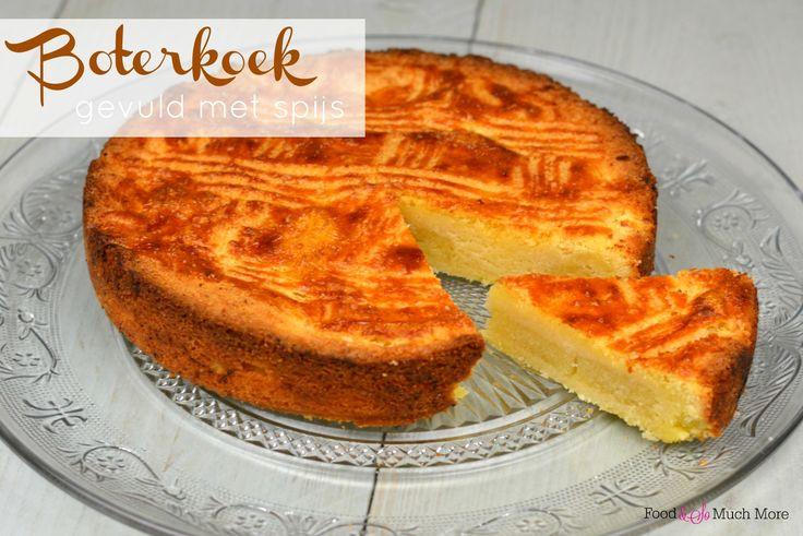 Een boterkoek bakken is zo makkelijk. En dit exemplaar is gevuld met spijs! Echt het proberen waard.