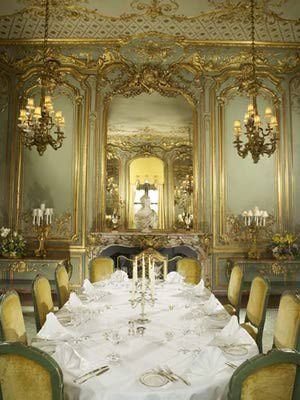he French dining room, no doubt the scene of many glamorous Astor parties, was brought to Cliveden from France. Lord Astor saw it, liked it, brought it home.