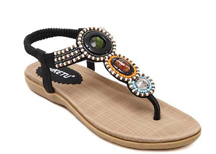 Boximiya Rome Summer Beads Beach Office Casual Girls Sandals Women Gladiator >>> Check this awesome image  - Outdoor sandals