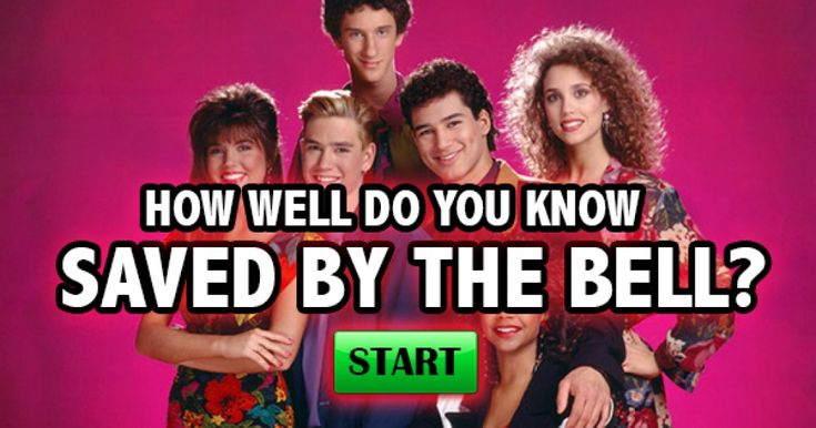 Saved by the bell! My favorite Saturday morning show!