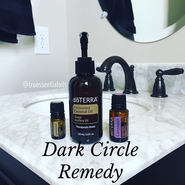 Who gets dark circle and bags under their eyes!? I know I do if I don't get good sleep and sometimes it can't be covered by makeup. This is the best remedy, 2 drops of Sandalwood and Lavender mixed with 1 tablespoon of fractionated coconut oil.