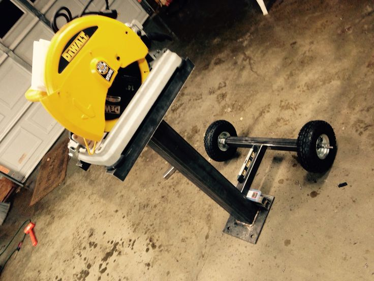 Chop Saw Stand With Removable Axle Metal Fab Chop Saw