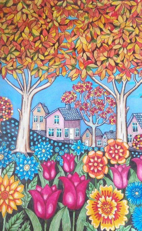 Tusj og akryl på A3 akvarellpapir