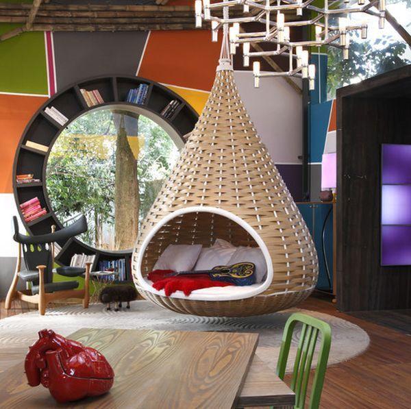 Modern hammock ideas shelves wood decoration