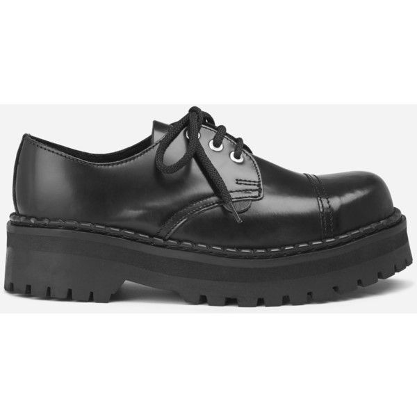 Underground Shop | Tracker Steel Caps Double Sole Black Leather |... (2.200 ARS) ❤ liked on Polyvore featuring shoes, boots, steelers shoes, steelers cap, black shoes, black cap and cap toe shoes