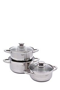 LEGEND 6 PIECE STAINLESS STEEL POT SET