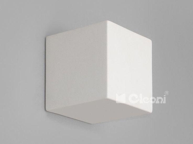 Cleoni Kinkiet KUBIK 1038C pełny biały