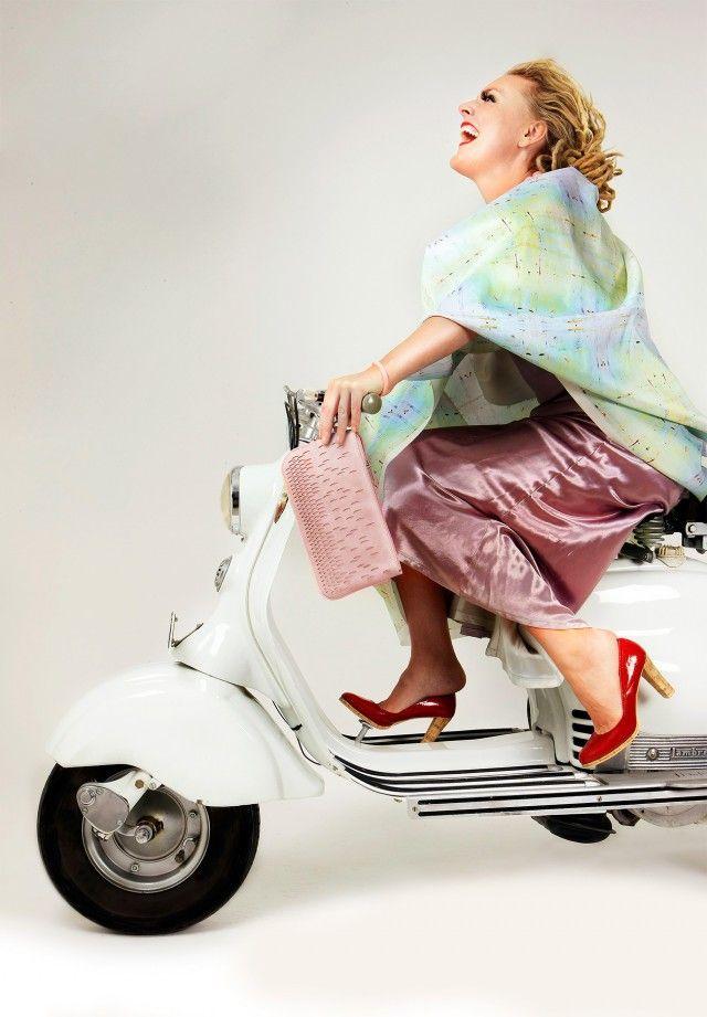 Coverpaper Square / Copacabana, silk textile - Camilla Eltell From - Nordic Design Collective