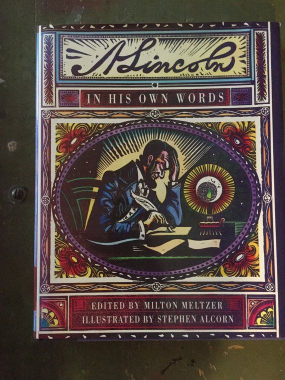 Abe Lincoln In His Own Words Stephen Alcorn Large Hardcover