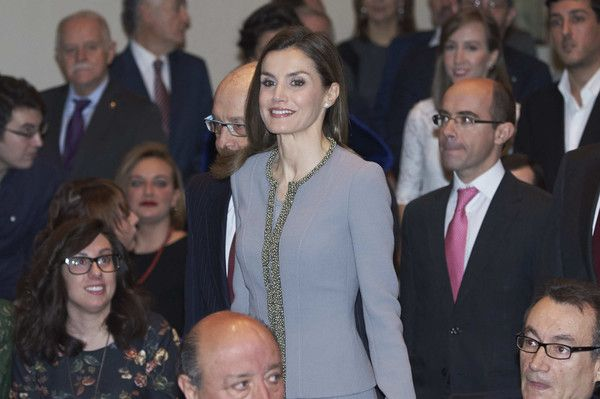 Queen Letizia of Spain attends 'Tomas Francisco Prieto' awards at Casa de La Moneda on January 20, 2017 in Madrid, Spain.