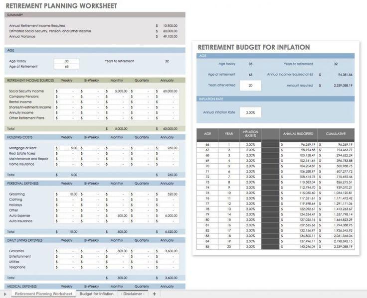 Retirement Planning Worksheet Excel Template 15 Financial Planning Templates Financial Plan Template Financial Planning Budget Personal Financial Planning
