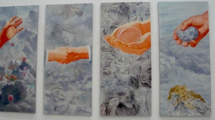 Fang Lijun, Hands, oil on canvas