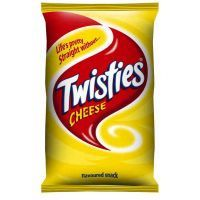 """Twisties, best chips ever just so hard to find over here.  """"life's pretty straight without  twisties"""""""