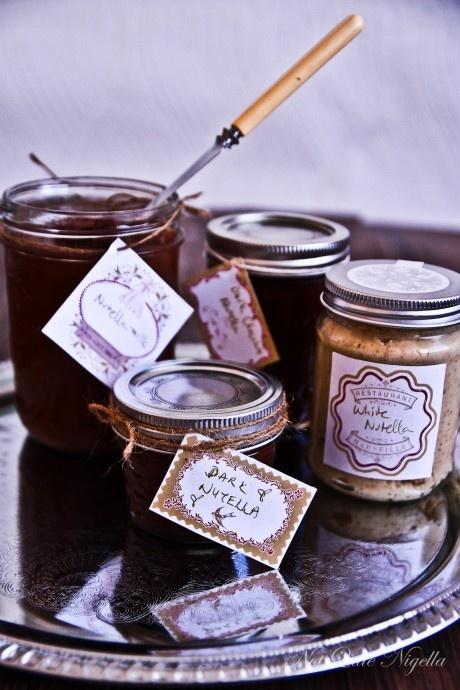 nutella from scratch - milk, dark & white: Chocolate Nutella, Dark Versions, Scratch, Gift, Recipe, Diy'S, Milk, Dark Chocolate