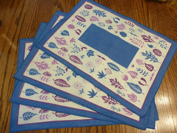 Midcentury Virginia Zito placemats