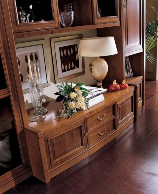 AXA MEUBEL | classic noten woon wand hoek kasten meubelen meubels athene