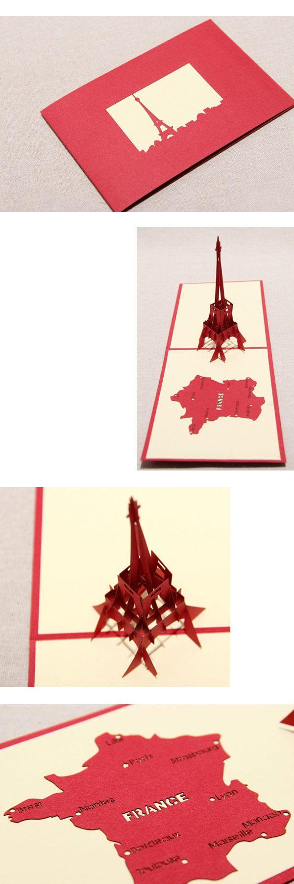 Эй тур эйфелева башня ручной творческий киригами и оригами 3D Pop UP приветствие и подарочные карты бесплатная доставка купить на AliExpress