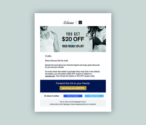 30 best Leavetown Referral images on Pinterest Email design - referral coupon template
