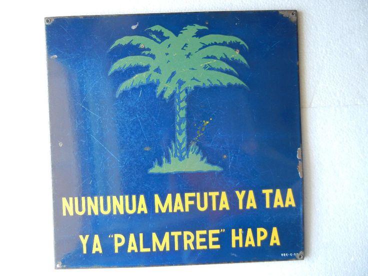 Rare Vintage Palmtree Mark Porcelain Enamel Sign Board ADV EHS