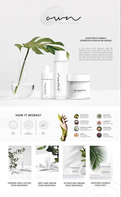 Own Organic Cosmetics branding, logotype, visual communications, branding, packaging, website, collateral, visual territory,