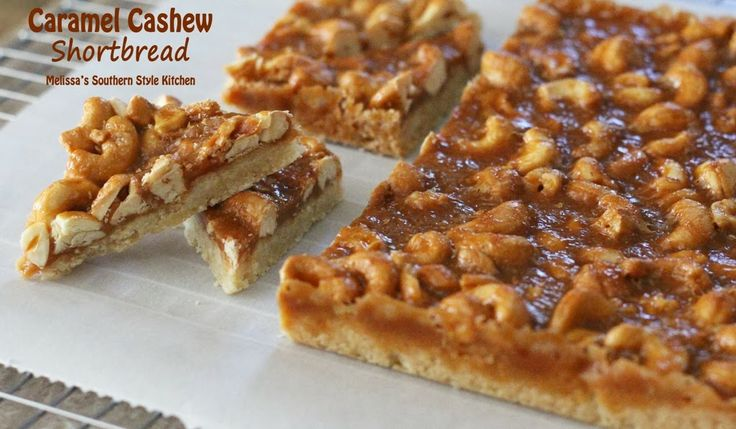 Melissa's Southern Style Kitchen: Caramel Cashew Shortbread