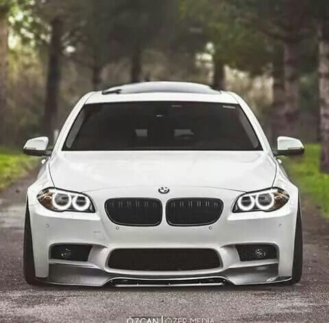 BMW F10 5 series white slammed