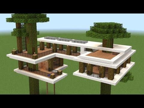 Minecraft - How To Build A Modern Tree House   minecraft