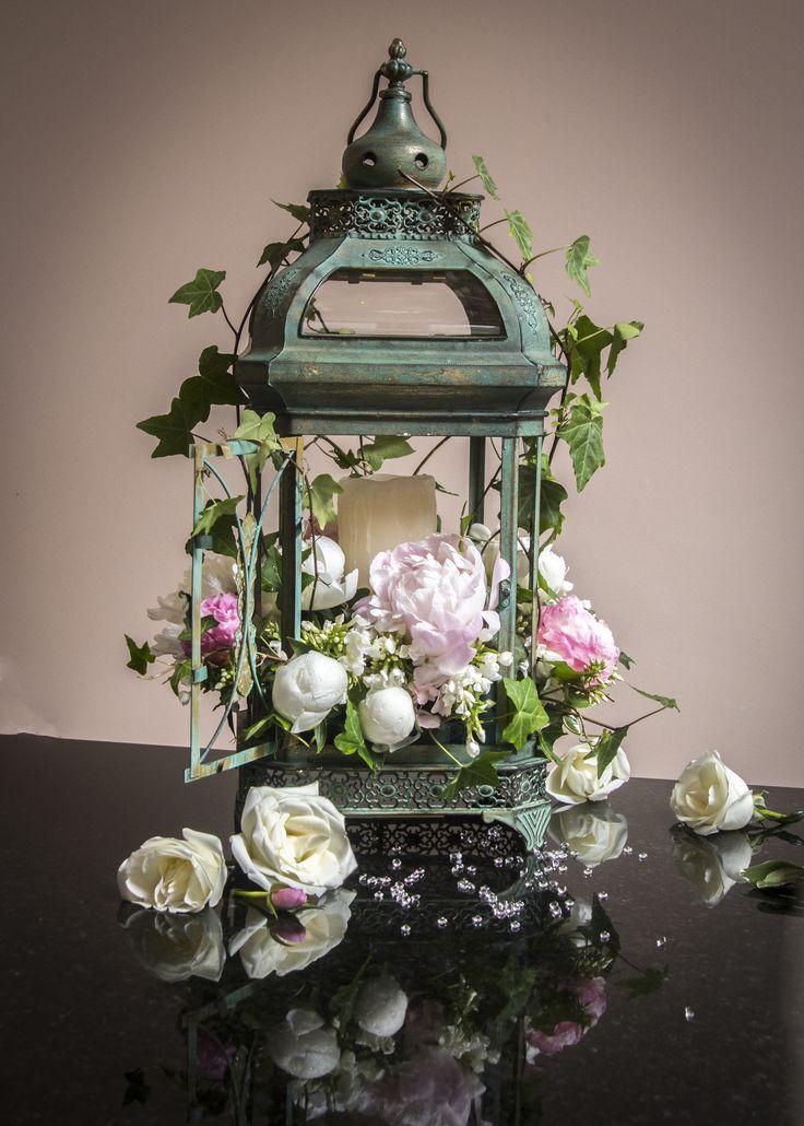 Lantern Flower Arrangement, wedding decor