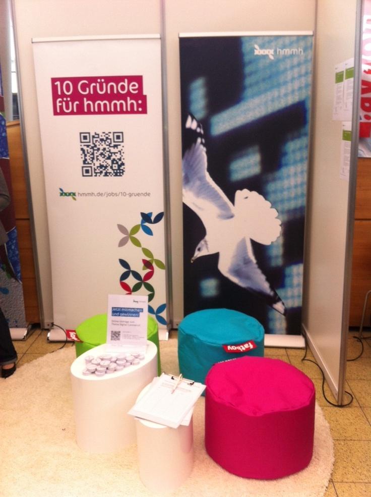 Unser Messestand: Praxisbörse Uni Bremen 2012. #hmmh