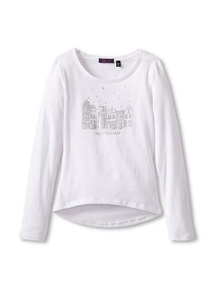 73% OFF Dex Girl's Graphic Tee (White)