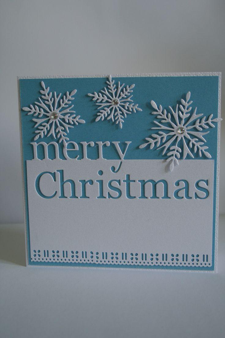 Memory Box Grand Merry Christmas, Penny Black Snowflake Trio.