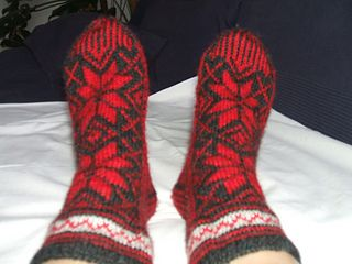 "monsci's 0-726 Socks with pattern for Christmas in ""Karisma"""