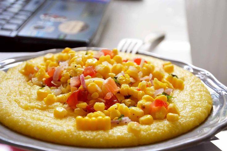 Polenta s pikantní kukuřičnou salsou -- Polenta with Spicy Corn Salsa #Facebookspecials