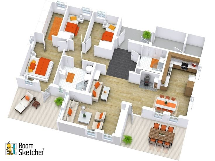Customize Your 3D Floor Plans To Suit Project Type Or Brand With RoomSketcher Pro Incorporate Colors And Create A Signature Look That Makes