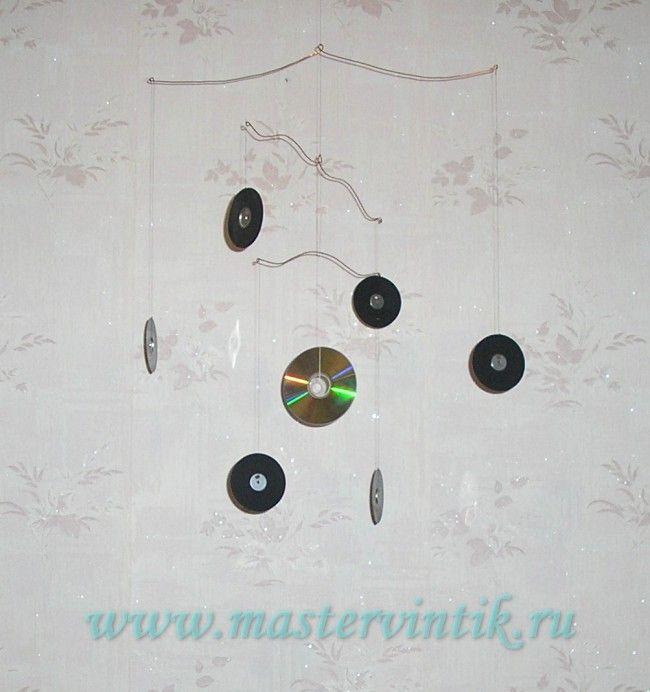Поделки из дисков — «солнечная система»