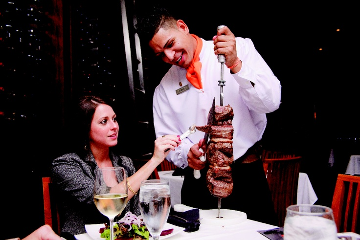 Located on Las Olas Boulevard, Chima Brazillian Steakhouse offers authentic rodizio dining -- 15 exquiste rotisserie meats offered by gaucho servers #Chima