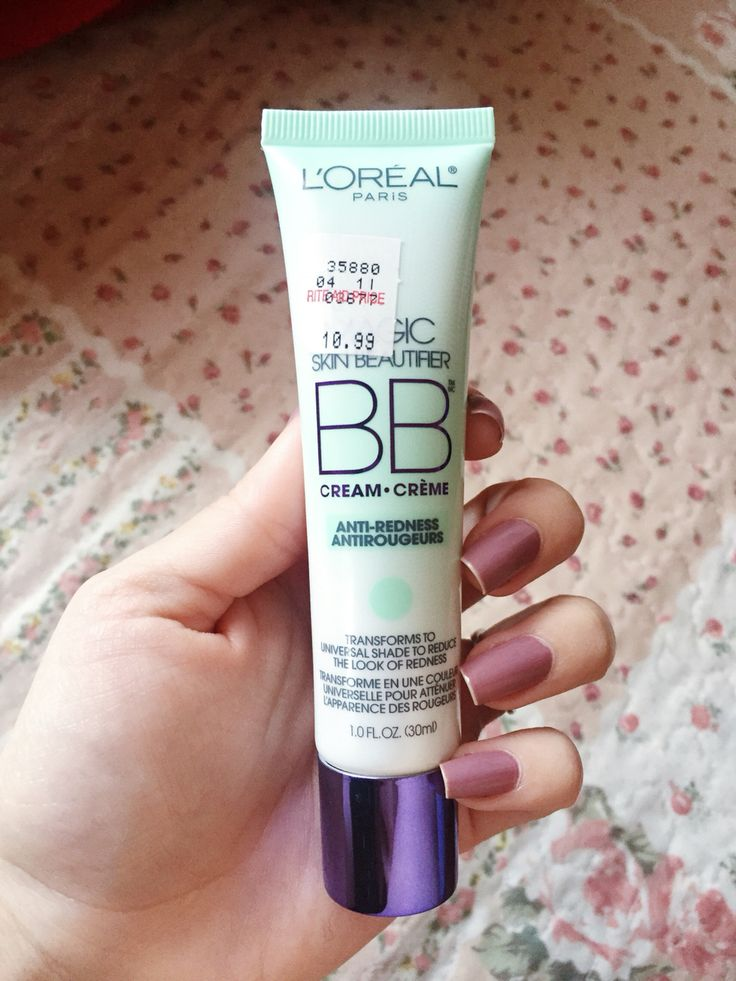 If you naturally have red pigments all over your face or on certain areas like the cheeks, this Magic Skin Beautifier BB Cream by L'OREAL will instantly tone down that redness in your face. You can even wear this alone without using foundation on top. If you have good skin and only want to get rid of the redness in your face, this is all you need. I bought this at Rite Aid but I think it's a dollar cheaper at Target. You will instantly see results!