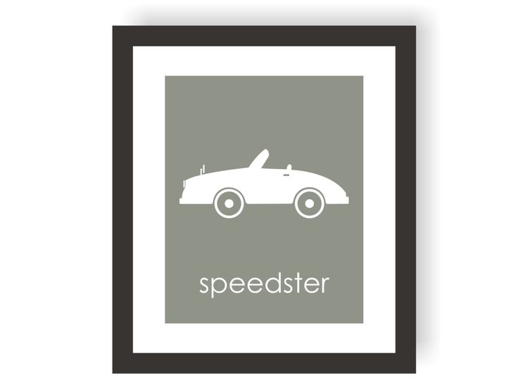 11x14 Vintage Speedster Car Nursery Art - Modern Nursery Decor, Transportation Nursery, Toddler Room Decor,  Kids Wall Art, Racing Decor by twowhiteowls on Etsy https://www.etsy.com/listing/255403731/11x14-vintage-speedster-car-nursery-art
