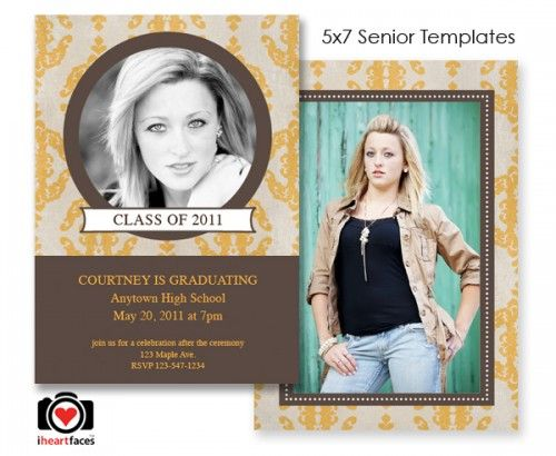 Best 25 graduation templates ideas on pinterest for Free senior templates for photoshop